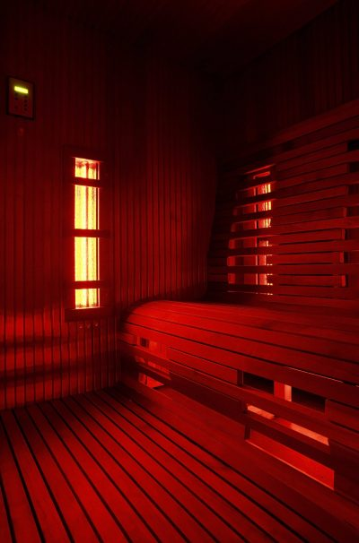 Infrared sauna cabin (infra)red light